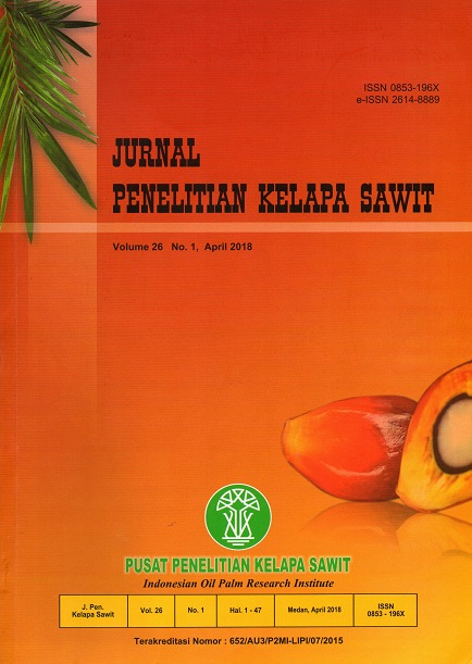 Jurnal Penelitian Kelapa Sawit Vol. 26 No. 1  April 2018