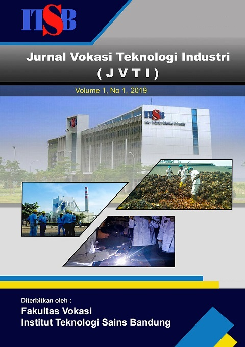 Jurnal Vokasi Teknologi Industri (JVTI) Volume 1 No.1 April 2019